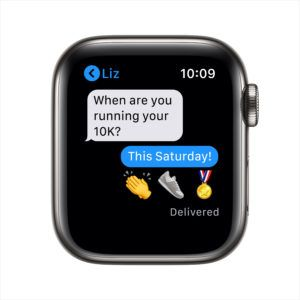 The Apple Watch allows you to make and receive calls and messages.