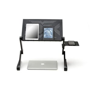 Laptop stands can also include cooling fans.