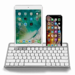 Wireless Keyboard Ultra-slim Built-in Battery Rechargeable Keyboards Ergonomic Design Stable Connection for Tablet
