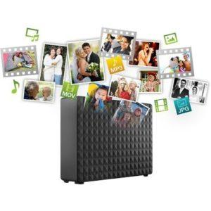 The external hard drive provides extra storage for your ever-growing collection of files.