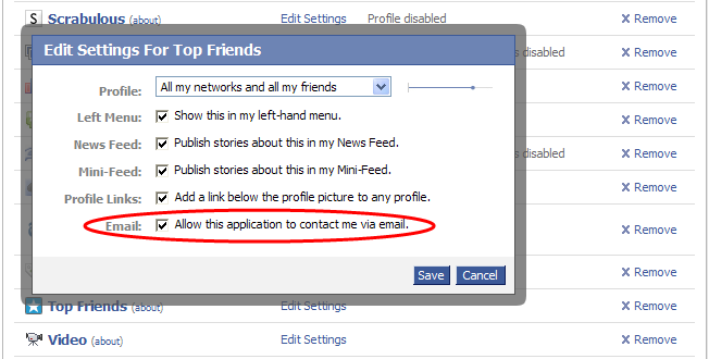 Facebook applications get email opt-out option | VentureBeat | News ...