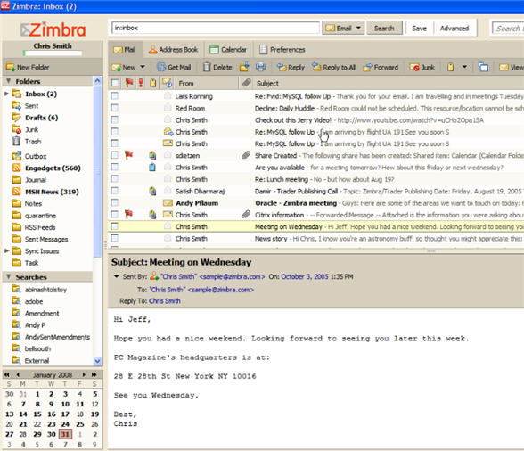 Zimbra releases more versatile IM and other features that