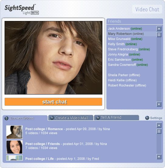 MySpace apps: SightSpeed releases video chat | VentureBeat