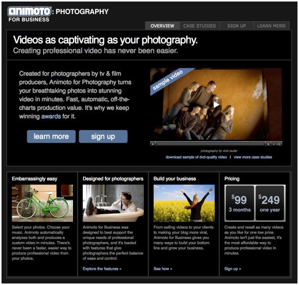 animoto for photography