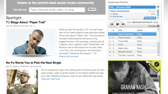 Imeem revamps its site for a more cohesive online music experience
