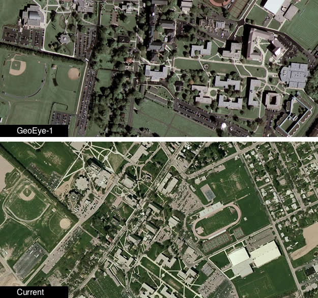 GeoEye Sharpens Googles Satellite Imagery Focus VentureBeat - Current aerial maps