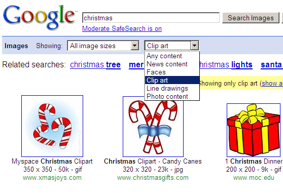 Find Your Favorite Clip Art On Google Image Search