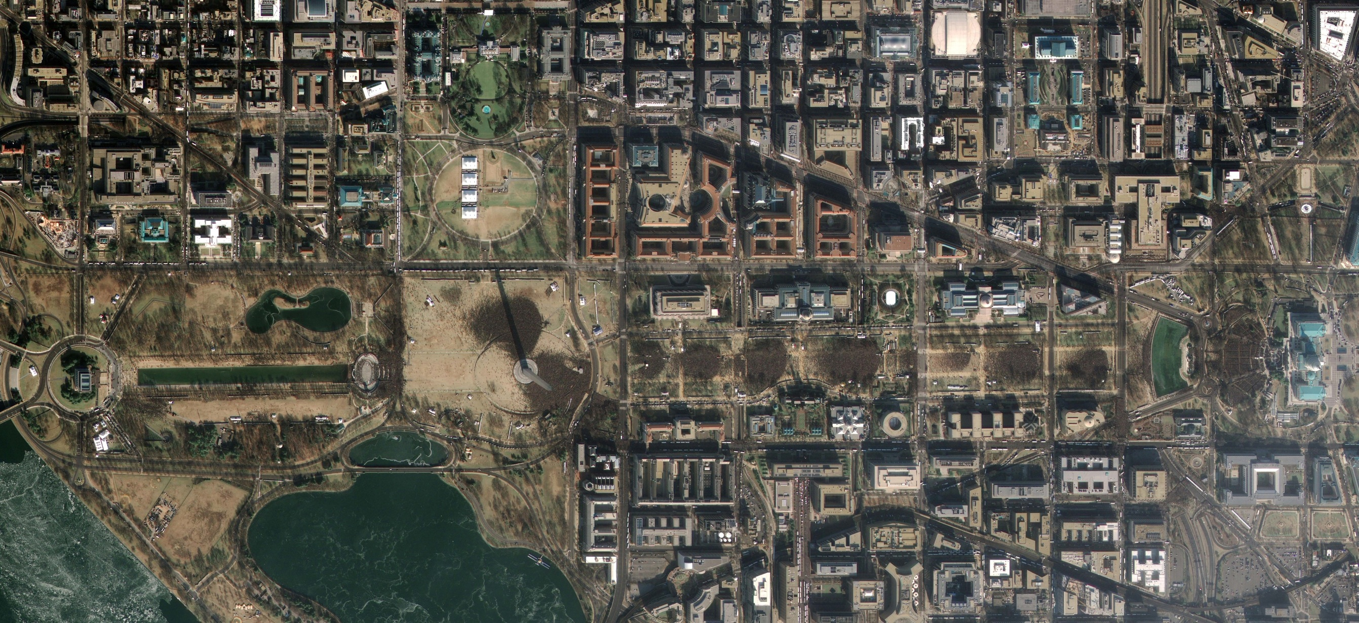 President Obama's inauguration, as seen from space 2
