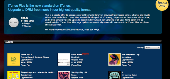 iTunes Plus upgrades get an important feature: Choice | VentureBeat