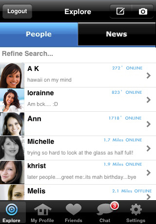 Skout dating network