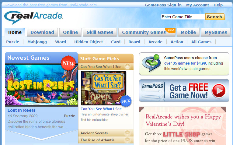 real arcade online games