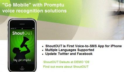 DEMO: Promptu launches ShoutOUT iPhone voice-driven