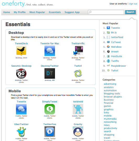 oneforty-essentials