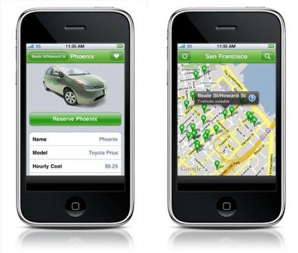 zipcar-iphone-aplikace