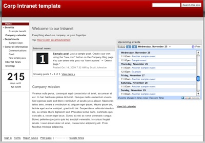 Google Sites now offers templates for company web sites ...