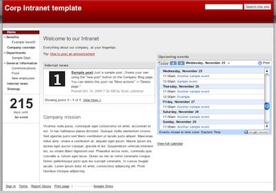 google corporate intranet