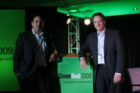 GreenBeat 2009 Innovation Competition co-winners Seth Georgion of Locust Storage and Gary Fromer of CPower