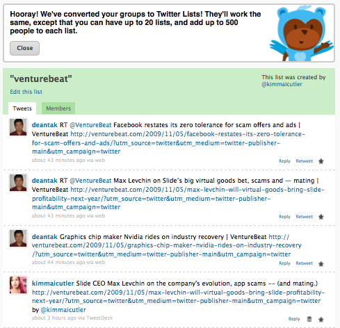 Brizzly steps up to be the next client supporting Twitter lists