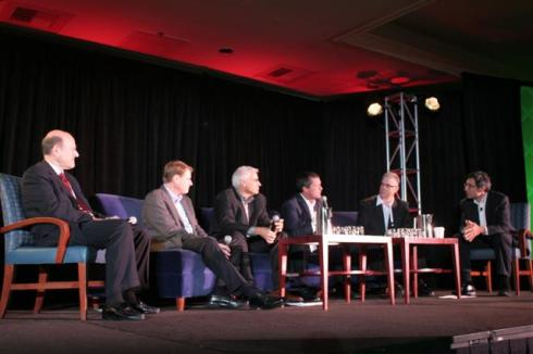 Michael Kanellos of Greentech Media moderates the Standards and Security panel at GreenBeat 2009