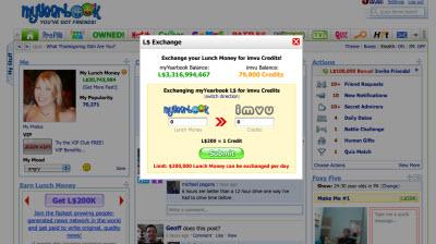 IMVU and myYearbook set up virtual currency exchange