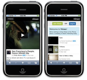 vimeo iphone