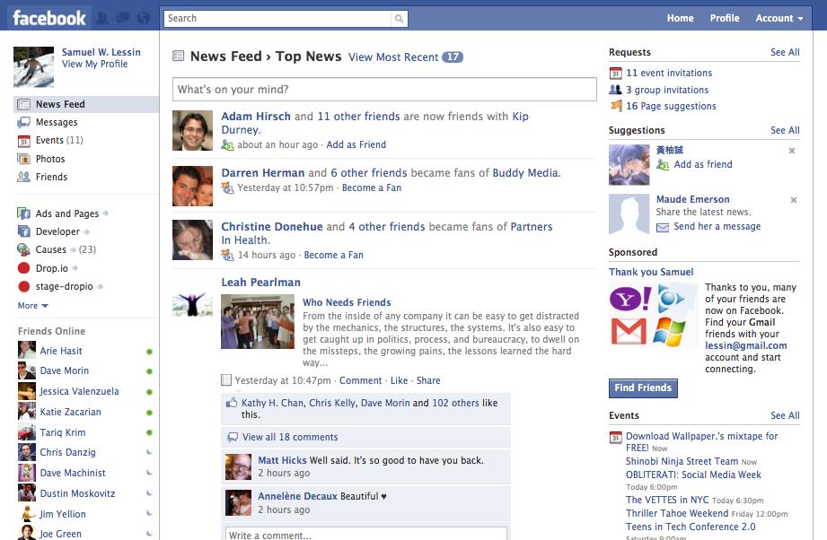 Live-blog: A rundown on Facebook's new redesign   VentureBeat