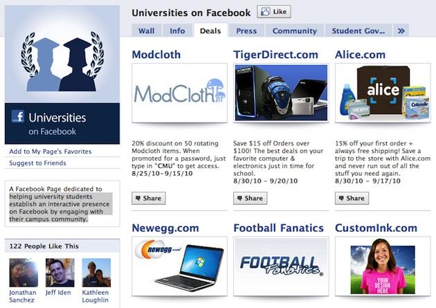 universities on facebook