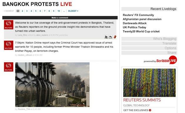 Reuters.com Bangkok protests