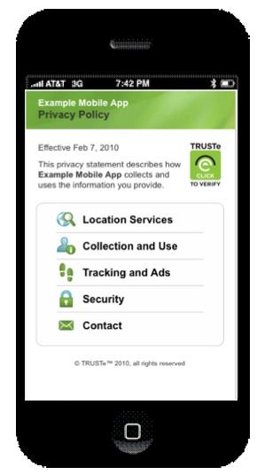 truste mobile screenshot