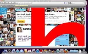 Twitter exploit screenshot
