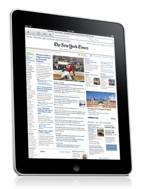 New York Time's iPad app