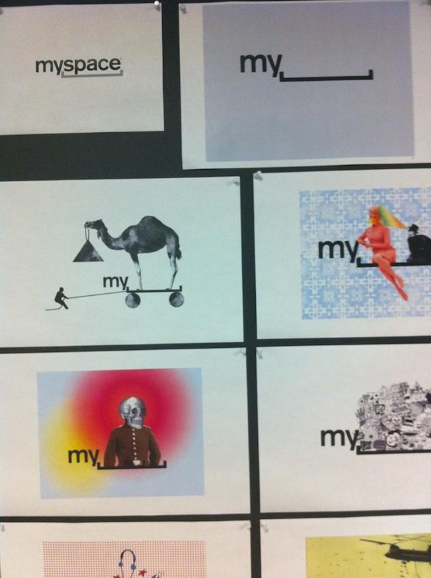 myspace redesign logos