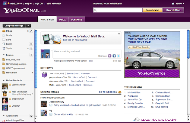 Yahoo! Mail Beta Preview