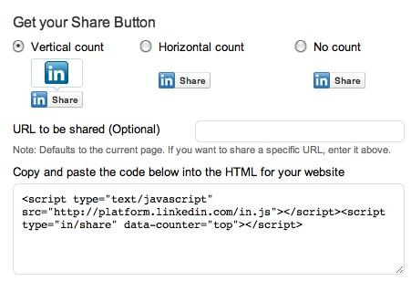 linkedin share