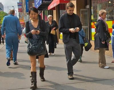 Cellphones on the street