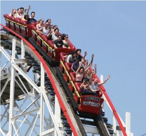 Image result for momentum roller coasters