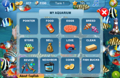 Gameview 39 s tap fish tops 10m downloads in a year on the for Tap tap fish game