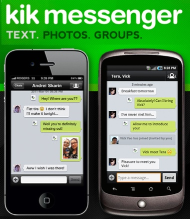 how does kik work on iphone