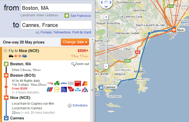 boston to cannes