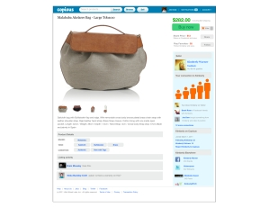 Product listings on Copious will include information about the seller's social networks