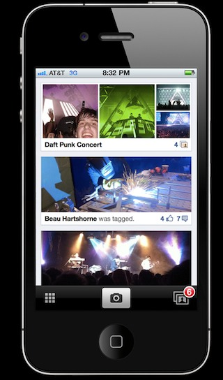facebook iphone photo sharing app