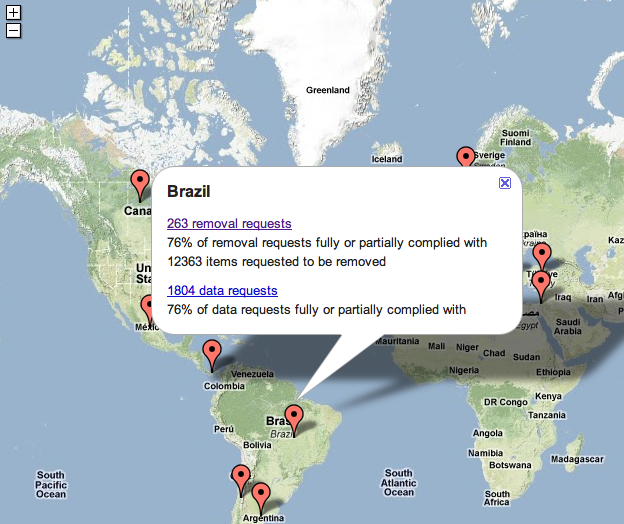 Google Transparancy Map