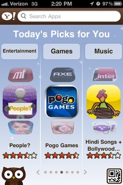 Yahoo iPhone Todays Picks