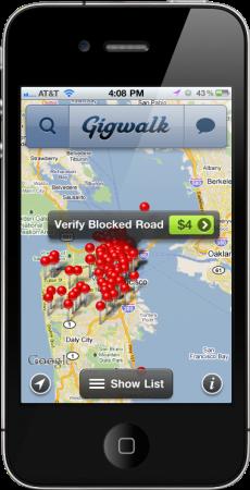 Gigwalk screen shot