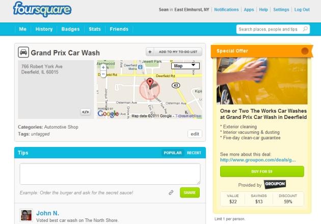 Foursquare-Groupon Partnership
