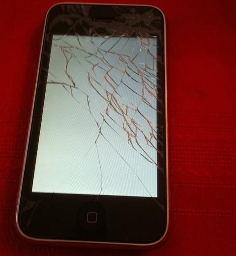 iPhone accident
