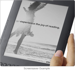 Kindle with Special Offers showing an ad