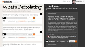 Screenshot showing the Percolate dashboard