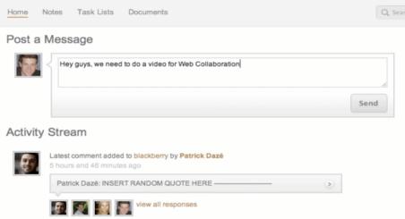 Web Collaboration Screen Shot