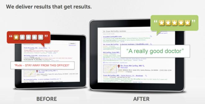 Search Engine Control Reputation.com